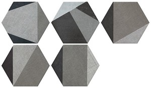 Hextangram Fabric Grey