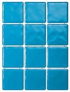 1244 Сезоны голубой, полотно из 12част. 9,9х9,9