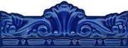 Moldura gotica azul antic