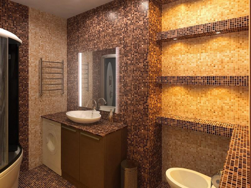 Плитка и мазайка для ванной дизайн